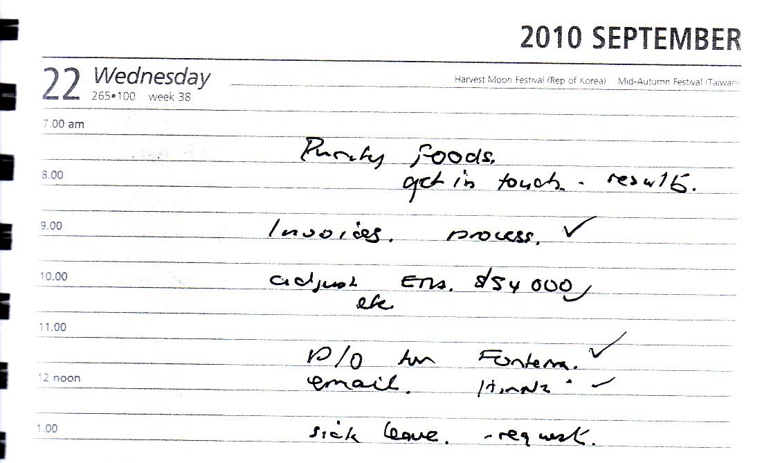 dementia handwriting